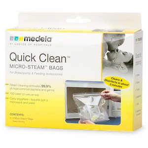 Medela Quick Clean Micro-Steam Bags 5 ct (Quantity of 6)
