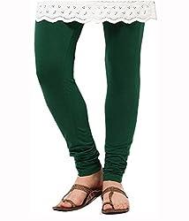 Ceil Women's Soft Cotton Leggings (LL 1004_Green_Free Size)