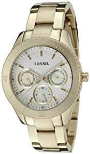 Fossil ES2820 Stella Stainless Steel Watch - Gold-Tone