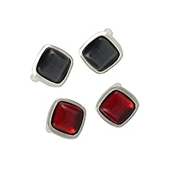 Sorella'z Black & Red Squared Cufflinks Combo