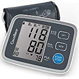 Blood Pressure Monitor CocoBear Upper Arm Digital Automatic BP Monitor for Home Use, 2 * 90 Memory Storage Adjustable Cuff Batteries Included FDA/RoHS Certified (Color: Gray, Tamaño: 12cm*8cm*4.5cm)