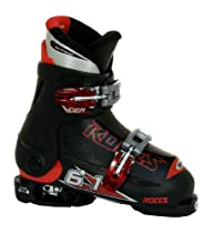 Roces 2014 Adjustable Black Junior Ski Boots 19.0-22.0