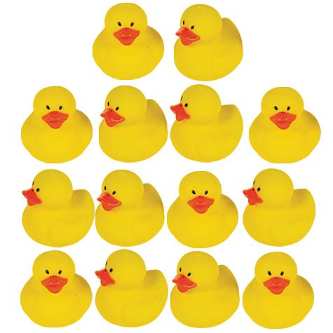 Mini Rubber Ducks 18Ct