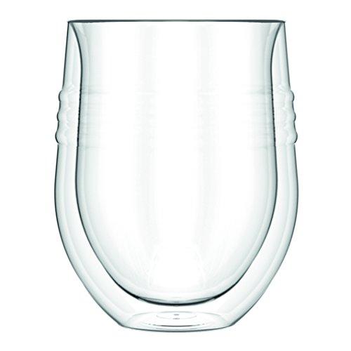 Bodum 11577-10 Skål Set de 2 Verres Double Paroi Verre Transparent 11 oz 0.32 L