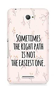 AMEZ the right path is not easy Back Cover For Sony Xperia E4