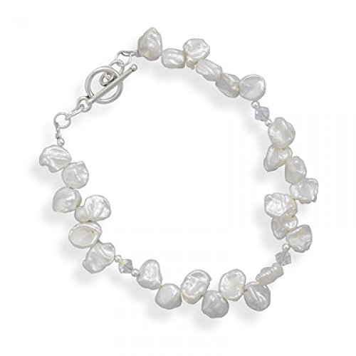 Cultured Freshwater Keshi Pearl Bracelet