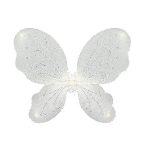 White Sparkle Butterfly Wings