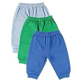 Luvable Friends 3-Pack Pants(Light blue/Green/Dark blue) 6-9 Months