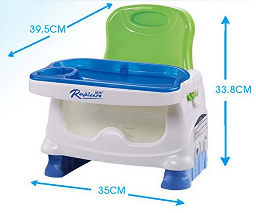 KIDS PORTABLE CHAIR FOR FEEDING SIZE 35x39.5x33.8cm TRAY SIZE 35x26cm. VERY COMFORTABLE.