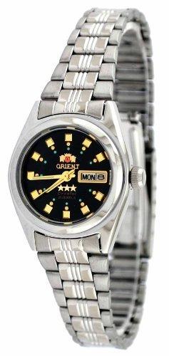 Orient #BNQ1X003B de la estrella de las mujeres con esfera de color negro reloj automático