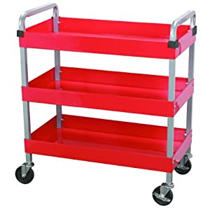 Maxworks 40105 Three-Tray Service Cart, 30-Inch Long by 16-Inch Wide, 350-Pound Capacity