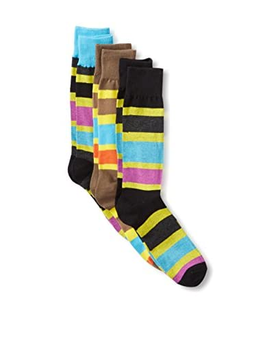 English Laundry Men's Colorblock Striped Socks - 3 Pack