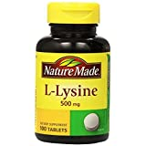Nature Made L-Lysine 500mg, 100 Tablets (Pack Of 3)