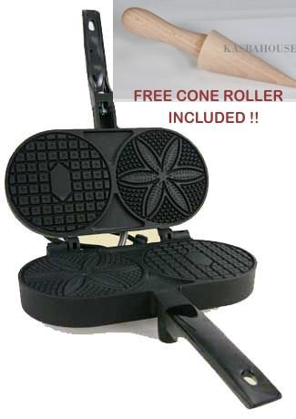 Best Price! Nonstick Pizzelle Baker - Made in USA