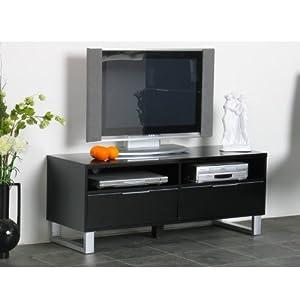tv tisch toronto fernsehtisch unterschrank mediaschrank lack schwarz. Black Bedroom Furniture Sets. Home Design Ideas