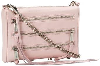 Rebecca Minkoff Mini 5-Zip H020E001 Convertible Cross-Body Handbag,Petal Pink,One Size