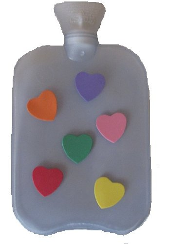 Warm Tradition Thermoplastic Floatie Hearts Hot Water Bottles - Made In Germany