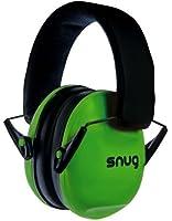 Snug Safe n Sound Kids Earmuffs / Hearing Protectors - Adjustable Headband Ear Defenders For Children and Adults (Green)