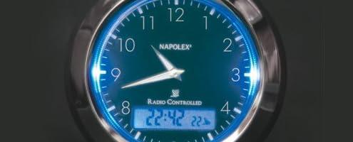 ナポレックス(NAPOLEX) Fizz(フィズ) アナログ電波時計 ブラック Fizz-844