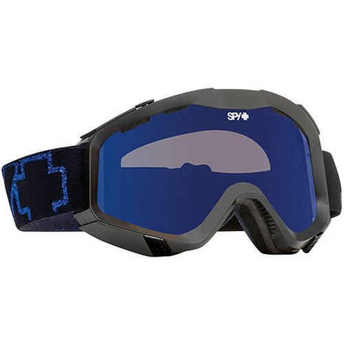 Spy Optic Blue Glare Zed Snow Racing Snowmobile Goggles Eyewear - Color: Bronze/Blue Mirror, Size: One Size Fits All