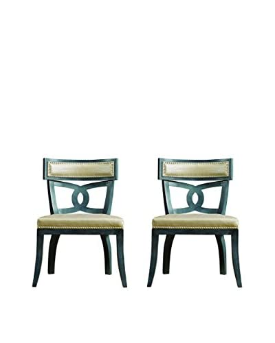 Couef Christopher Set Of 2 Dining Chairs, Slate