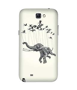 Flying Elephant Samsung Galaxy Note 2 Case