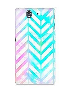 Amez designer printed 3d premium high quality back case cover for Sony Xperia Z (neon splash colours )