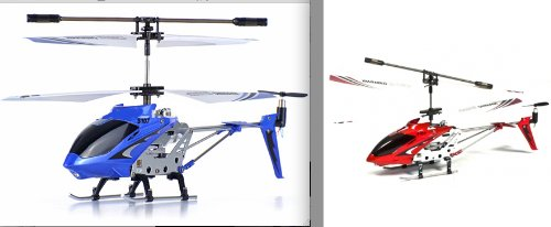Syma s107G RC helicopter 2 Combo Set Blue and Red Bundle