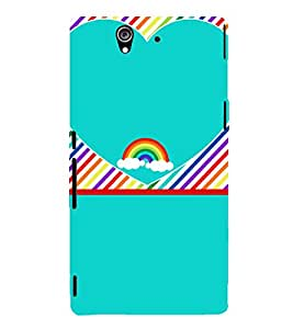 Beautiful Rainbow Pattern 3D Hard Polycarbonate Designer Back Case Cover for Sony Xperia Z :: Sony Xperia Z L36h