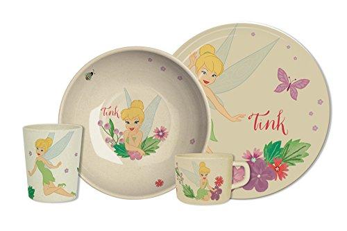 Fee Clochette 8013754.0 Butterfly Trudeau Service pour Enfant Bambou Multicolore 42 x 27 x 14 cm Lot de 4