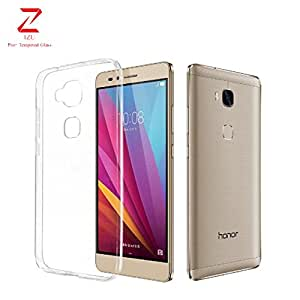 Huawai Honor 5x Case, IZU PRO+ Japanese Technology [Clear Cushion] Premium Clear Case Soft Back Panel + TPU Bumper for Huawai Honor 5x - Shock Absorbing + Scratch Resistant Frame Cover Case - Clear