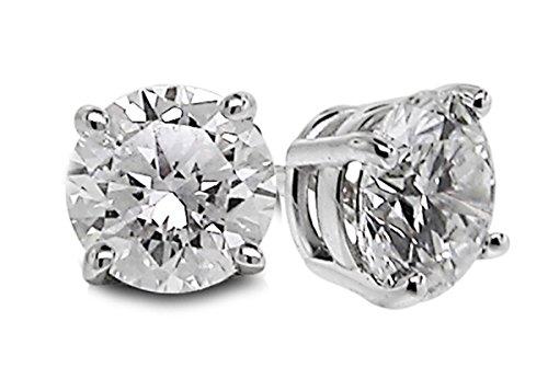 Diamond Studs Forever - Orecchini con solitario - diamante 1/5 carati totali GH/I1-I2 - oro bianco 14K