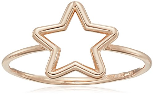 14k Italian Rose Gold Star Ring, Size 8 (Gold Italian Ring compare prices)
