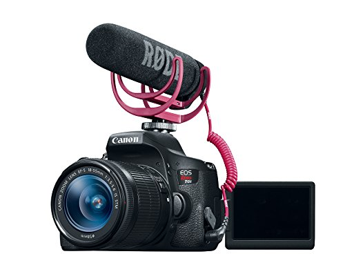 Canon EOS Rebel T6i Video Creator Kit with 18-55mm Lens, Rode VIDEOMIC GO and Sandisk 32GB SD Card Class 10