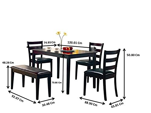 Coaster 5pc Dining Table Chairs amp Bench Set Cappuccino Finish : 41doxcq5j6LSL1200 from reviewhomkit.com size 500 x 375 jpeg 27kB
