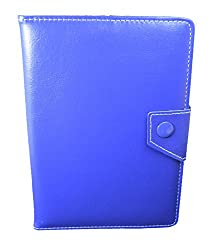 TOTTA Universal Tab Book Cover For Intex iBuddy Connect II 3G-BLUE