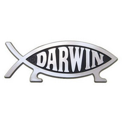 Darwin Fish Magnetic Car Emblem (Magnetic Emblem compare prices)