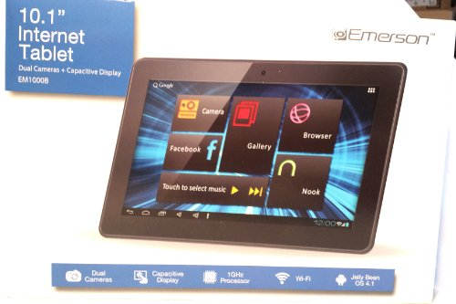 Emerson-10-Android-Internet-WIFI-Tablet- Ebook Reader-4GB-Black-Dual-Camera-MicroSD-Em1000B
