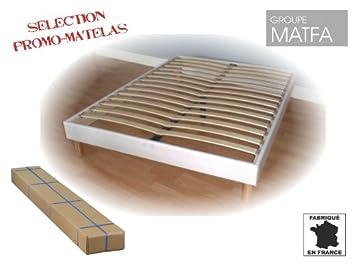 s promo matelas sommier tapissier lattes en kit kit blanc 120 x 190 cm cuisine. Black Bedroom Furniture Sets. Home Design Ideas