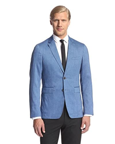 Burberry Men's Slim Fit Notch Lapel Linen Wool Sport Coat