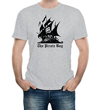 Pirate Bay Heather Grey Adult T-Shirt - Small Heather Grey