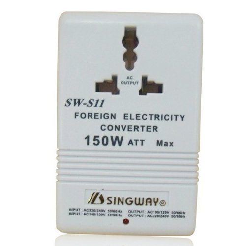 150W Ac120/110/220/230V To Ac220/240/110/120V Travel Transformer front-604329