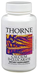 Thorne Research Calcium D-Glucarate, 90 Vegetarian Capsules