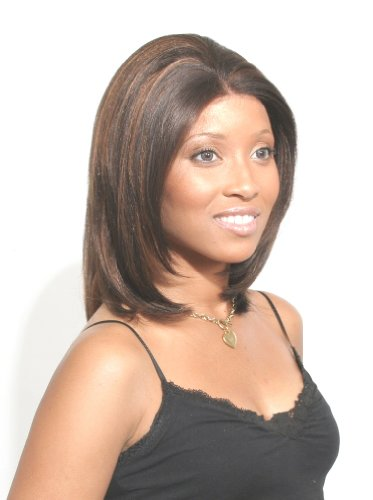 Afro Beauty Collection Synthetic Hair Lace Front Wig - LF-Bella - Color FS4-30 - Dark Brown with Light Auburn