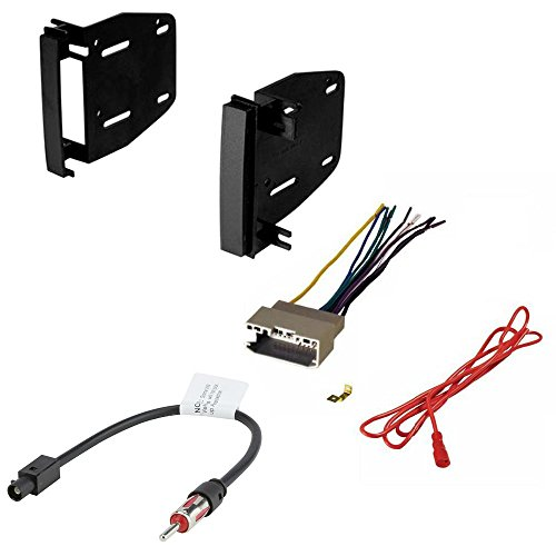 CHRYSLER DODGE JEEP MITSUBISHI RAM VOLKSWAGEN CAR CD STEREO RECEIVER DASH INSTALL MOUNTING KIT WIRE HARNESS AND RADIO ANTENNA ADAPTER (Mitsubishi Car Stereo compare prices)