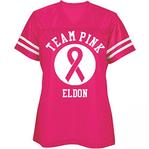 Team Pink Breast Cancer Support For Eldon: Sport-Tek Misses Replica Jersey (Eldon Shirt compare prices)