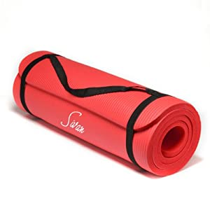 Sivan Health and Fitness® NBR Yoga and Pilates Mat (Red)