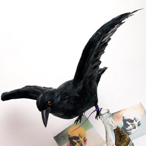 PUEBCO Artificial Birds Crow プエブコ アーティフィシャルバード フライングカラス