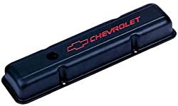 Proform 141-750 Chevy Bowtie Black Crinkle Valve Covers Short W/Baffle