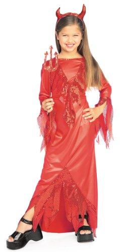 [Halloween Concepts Child's Devilish Diva Costume, Large] (Girl Devil Costumes)